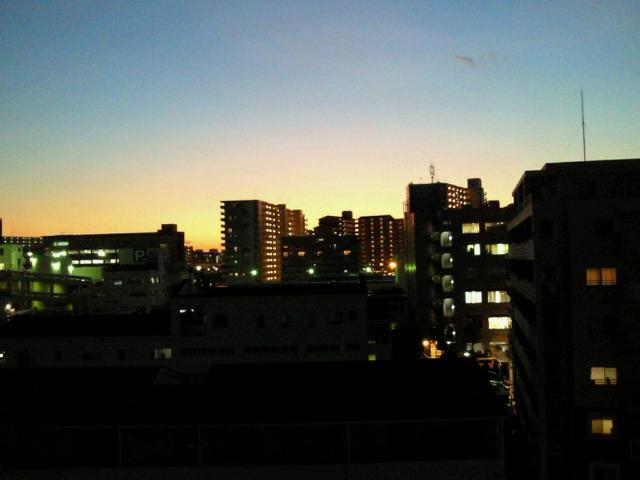 年の瀬の夕景